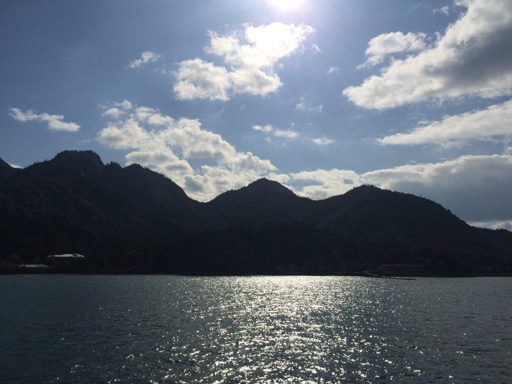 晴れた広島の風景