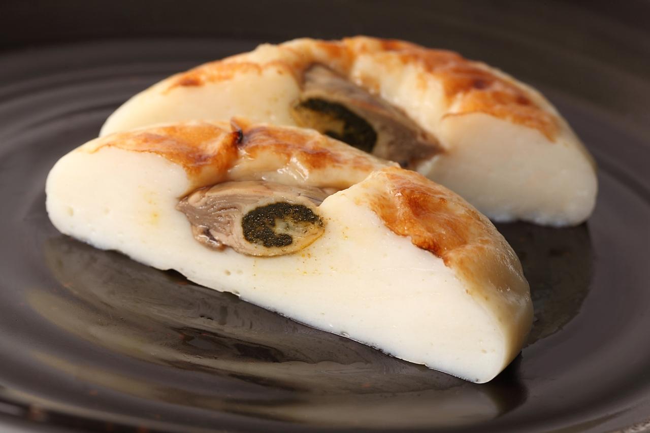 刺身のように食べる牡蠣(かき)かまぼこ