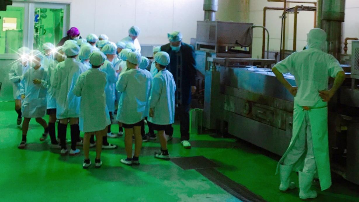 地元草津小学校3年生の工場見学