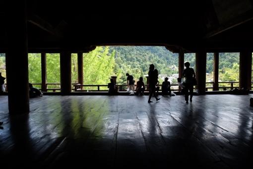 宮島の千畳閣(せんじょうかく)内部
