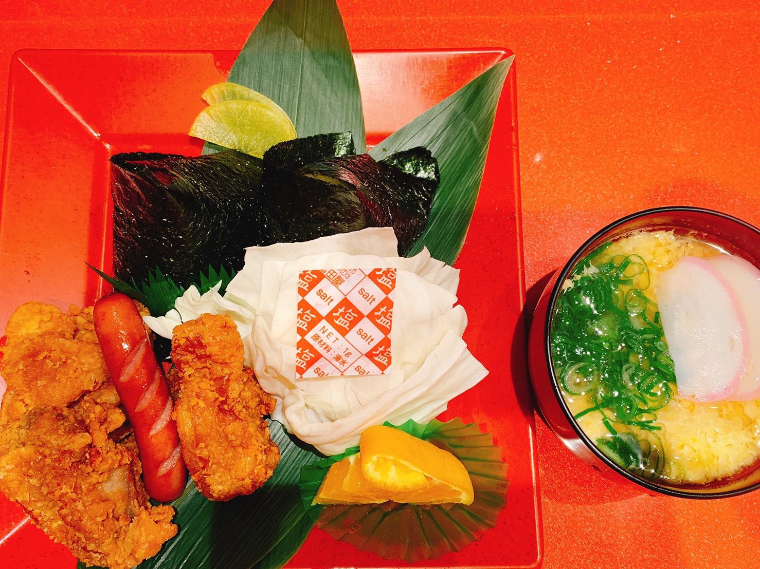 広島に来たら「むさし」の若鶏むすびでしょう!!